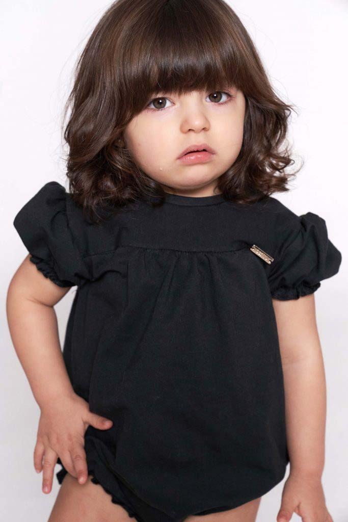 boby abierto negro algodón orgánico omho nina princesa