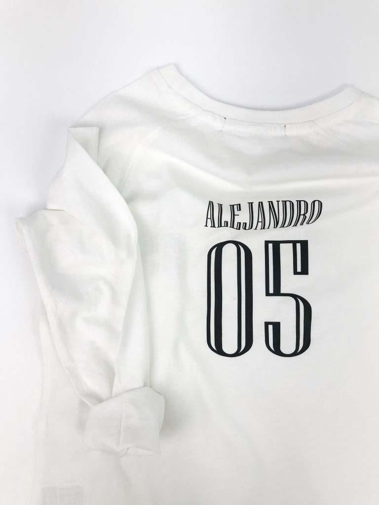 camiseta beisbolera personalizable omho unisex algodón orgánico