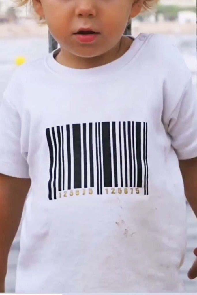 camiseta codigo barras algodón orgánico omho unisex