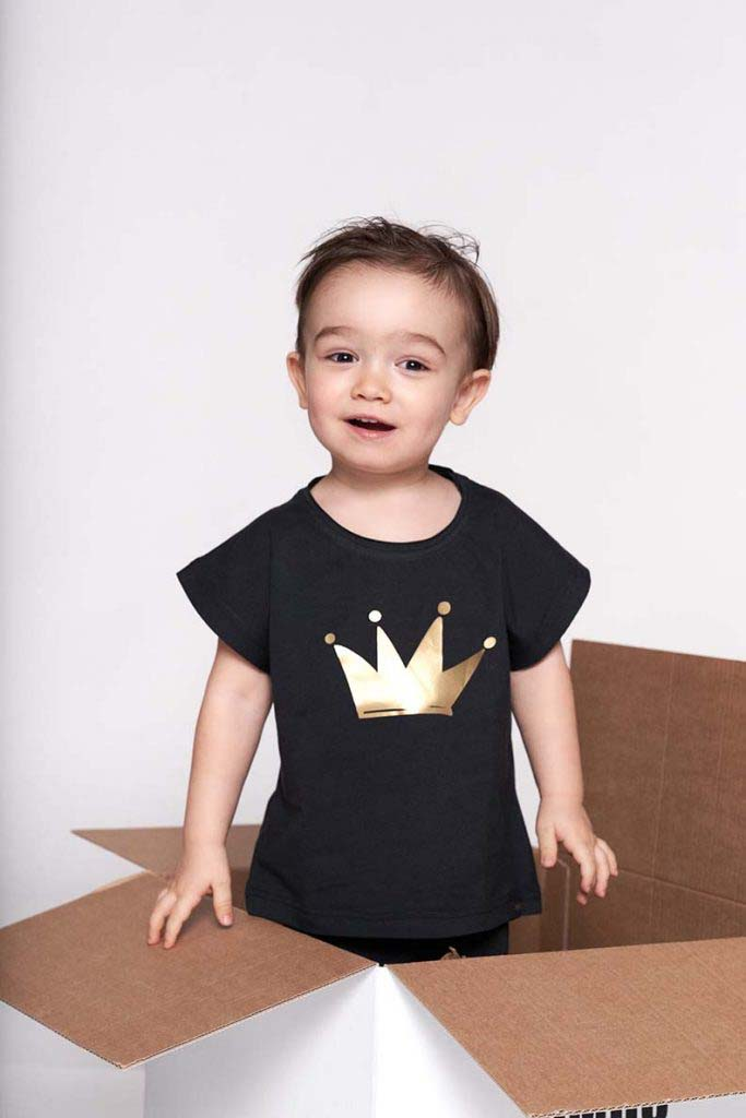 camiseta corona dorada oversize omho unisex algodón orgánico