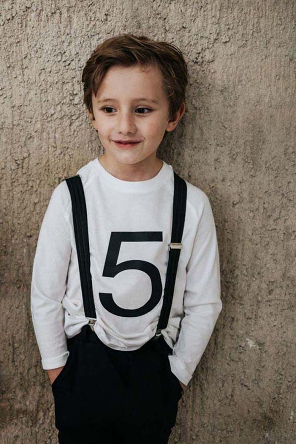 camiseta número cumpleaños algodón orgánico unisex