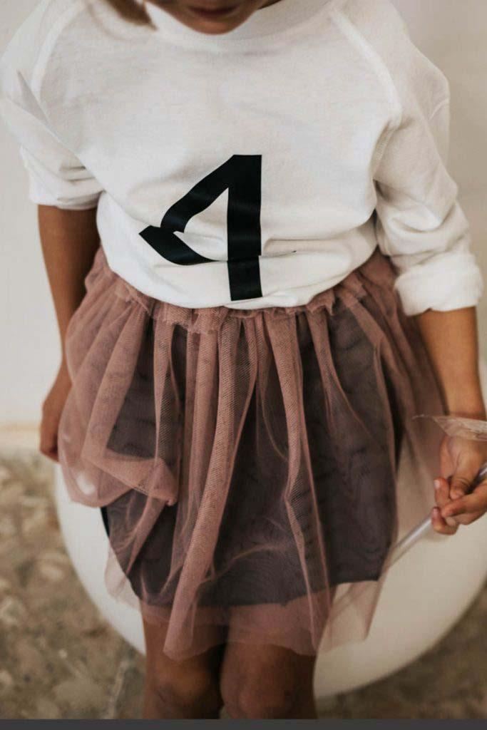 camiseta número cumpleaños algodón organico unisex nina 1