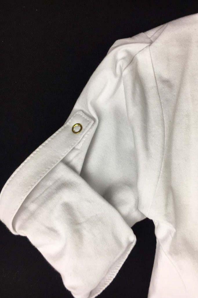 camiseta panadera blanca corona dorada omho unisex algodón orgánico