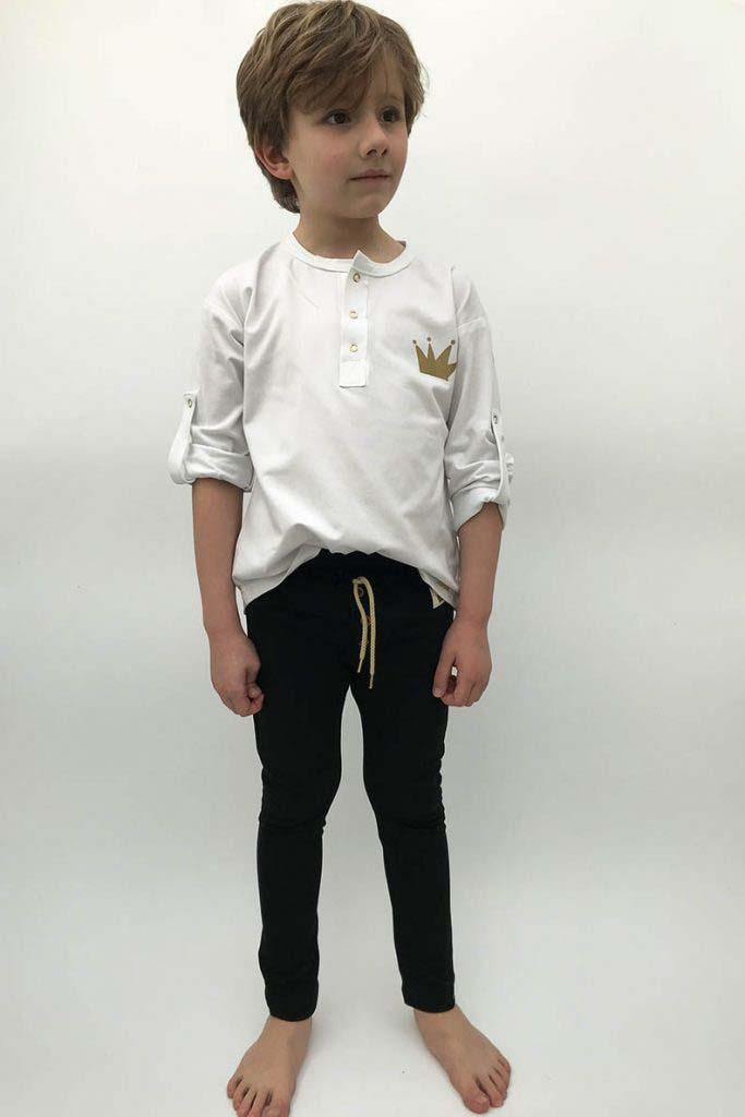 camiseta panadera blanca corona dorada omho unisex algodón orgánico2