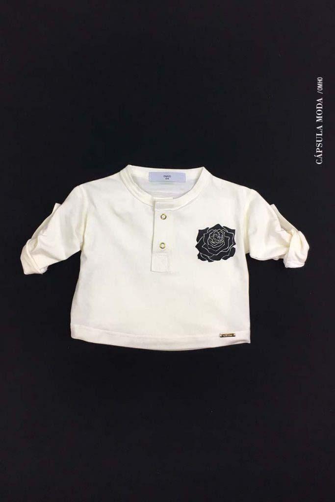camiseta panadera omho algodón orgánico unisex flor