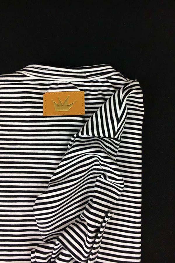 camiseta panadera rayas corona dorada algodón orgánico unisex 1
