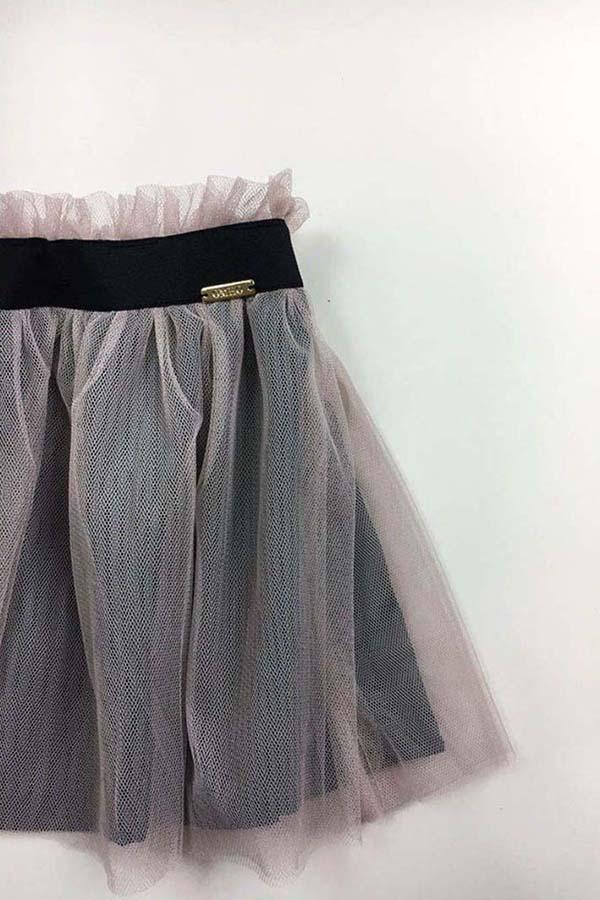 falda tul omho rosa forro negro niña nina 1
