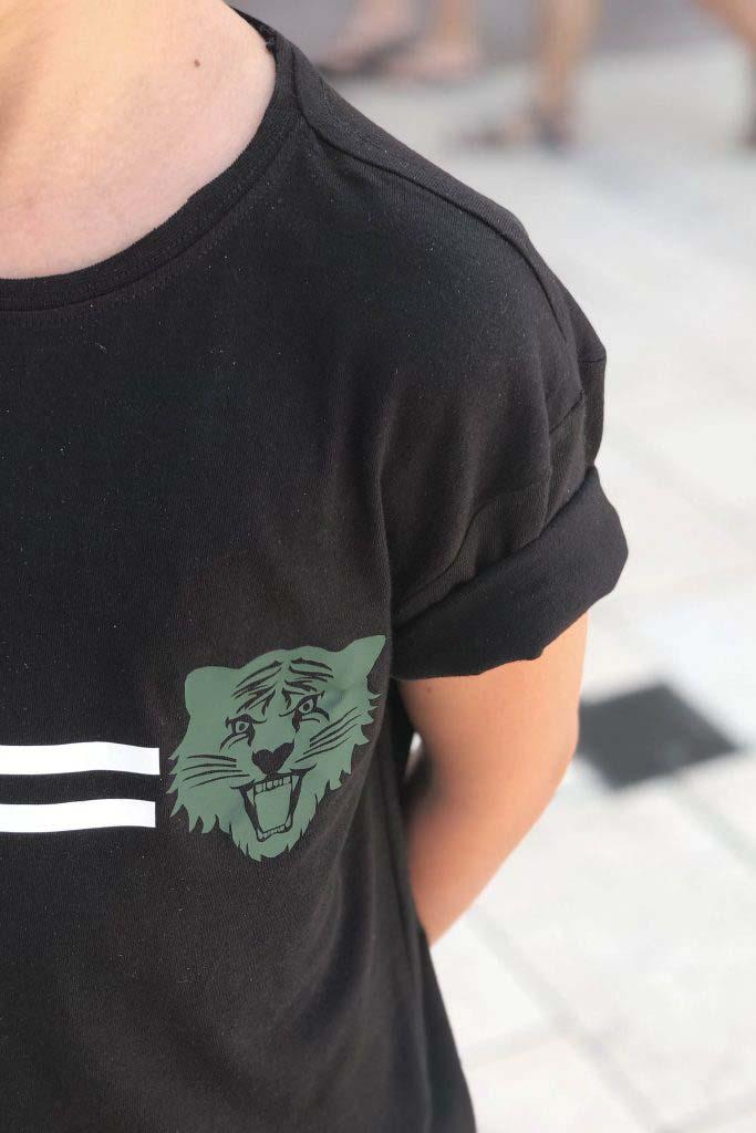 tigre manga corta